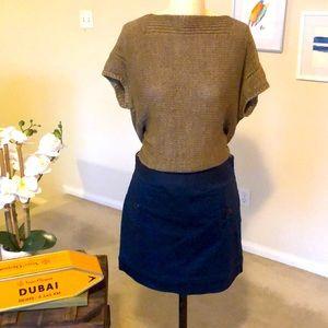 VINEYARD VINES navy cotton mini skirt